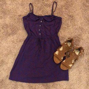 Purple/blue floral dress